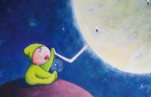 FILASTROCK_illustrazione IL BIMBO E LA LUNA di Katia Trinchero