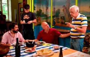 LA LUNA SU TORINO di Davide Ferrario_nella foto il regista con Walter Leonardi e Franco Maino