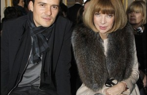 Orlando Bloom e Anna Wintour