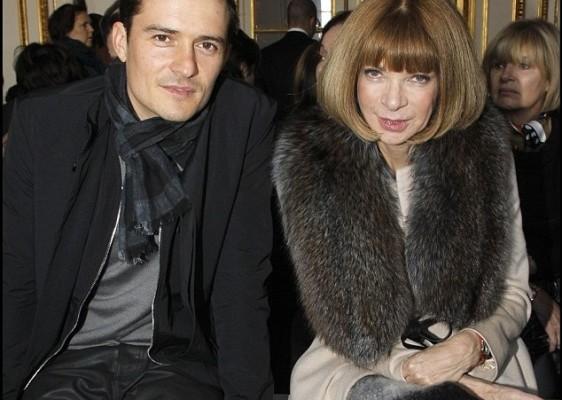 Orlando Bloom e Anna Wintour
