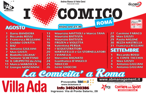 3x2 I LOVE COMICO - ROMA Estate 2014 DATE